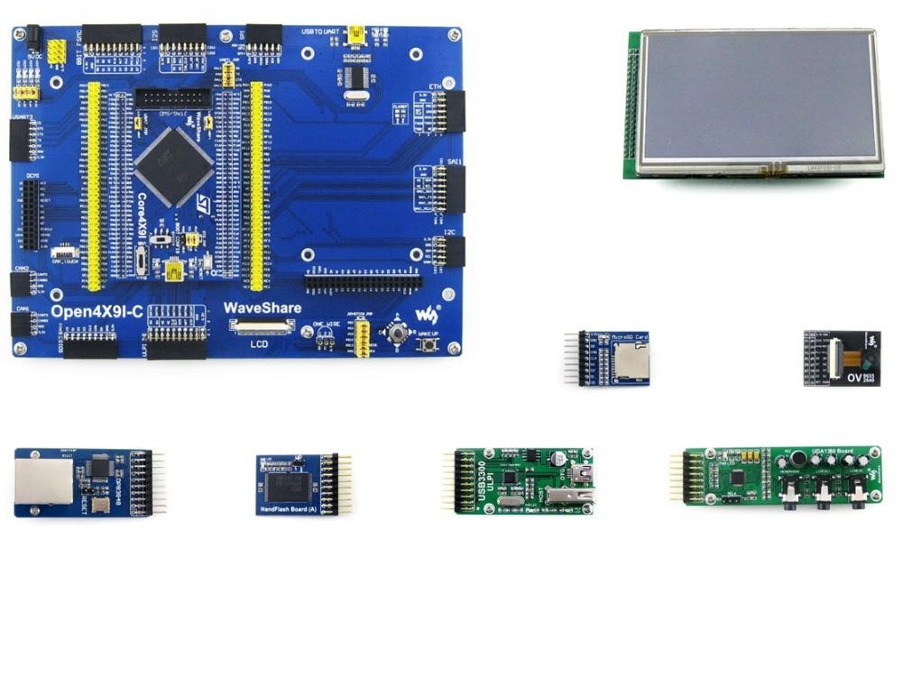 Waveshare STM32 Development Board STM32F429IGT6 STM32F429 ARM Cortex M4 STM32 Board 7 Module Kits Open429I C