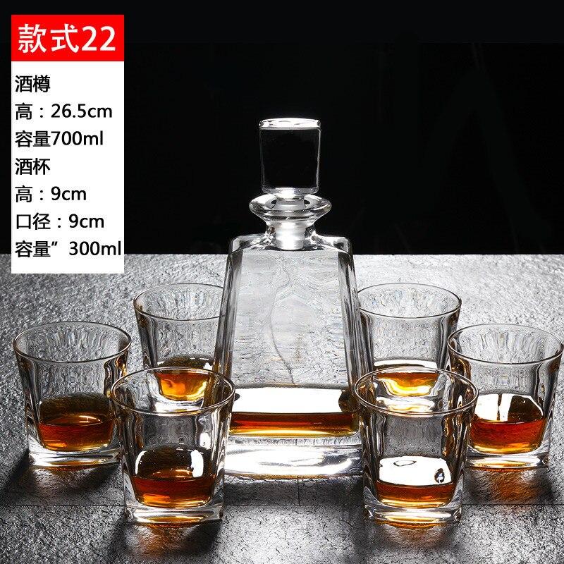 Vin en cristal tasse de vin ensemble Whisky Tasse de liqueur carafe tasse whisky verre océan