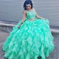 Moda Dos 2 Unidades de Bola Vestidos de Quinceañera 2016 de La Princesa de Baile Vestido Para weet 16 Años Vestido De 15 Anos