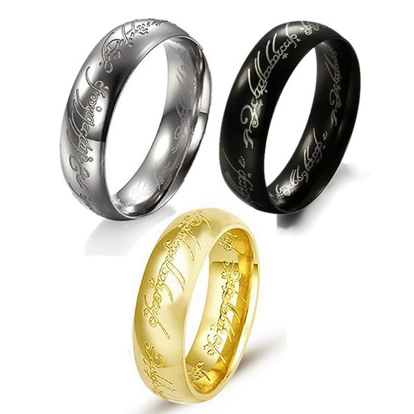 """e Ring to Rule Them All"""" Dark Lord of The Ring Men Women Fashion"""