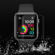 Screen Protector Film for Apple watch 4 40MM 44MM Ultra-thin High Touch Clear Sensitivity Tempered Glass PET TPU Protective Film(China)