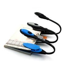 1 шт., Высококачественная стильная Гибкая портативная книга для путешествий, лампа для чтения, светодиодный мини-Настольная лампа с зажимом, переключатель включения/выключения