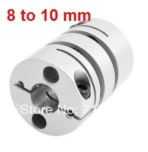 8mmx10mm Clamp Tight Motor Shaft 2 Diaphragm Coupling Coupler L44D34