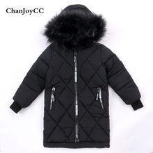 ChanJoyCC Winter Hot Sale Children's Coat Baby Boys Long Sleeve Fashion Windproof Thickening Warm Long Outerwear For Kids