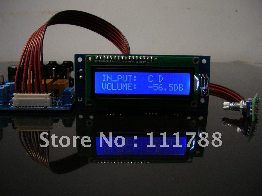 PGA2311 Remote Audio Preamp kit DIY hifi preamp diy kit jv15 pga2311 remote volume preamplifer kit support 4 way inputs with aluminum remote