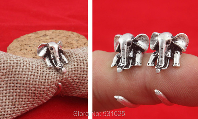 Neue Sommer Art Hippie Mid Finger Elephant Ring Mode Boho Chic Bague