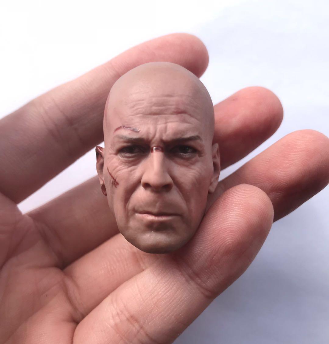 1//6 Bruce Willis Head Sculpt For Die Hard 12'' Hottoys Figure Body