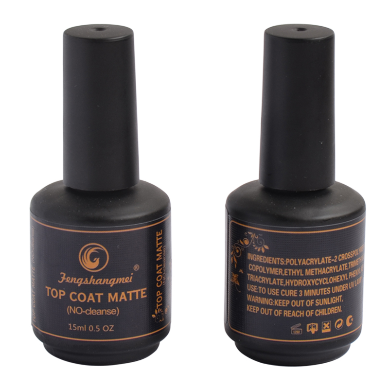 Fengshangmei 15ml Matte Top for Nail Gel UV Led No Wipe Matt Gel ...