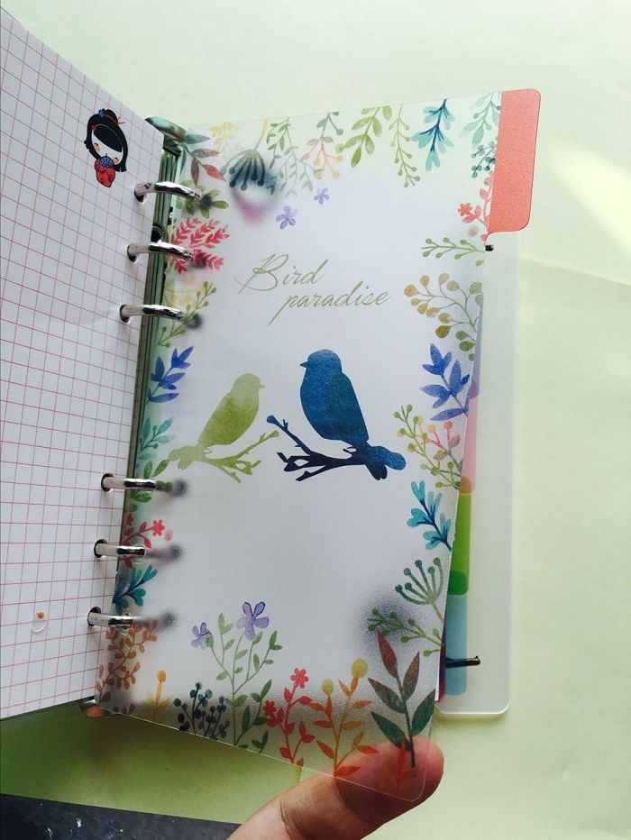 2018 A5/A6 6 holes Colored Notebook's Index Page 5pcs/set Spiral Book Category Page Filofax Planner Accessories Multan