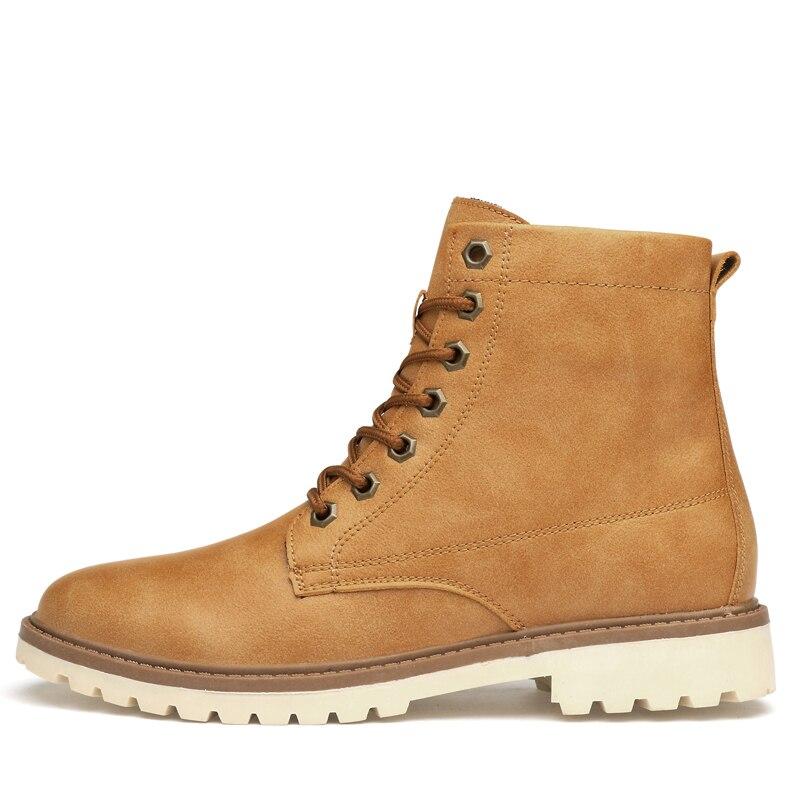 amarelo Tamanho Borracha Grande Água Inglaterra Homens Lazer Prova Quentes cinza Inverno Marrom Couro Asifn De Botas Retro Sapatos D' À Para Rgqxaa0T