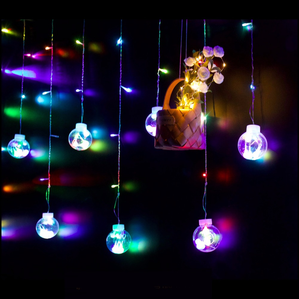 Wishing ball lights LED Christmas ball lights curtain lights net red wedding holiday five-pointed star led lights