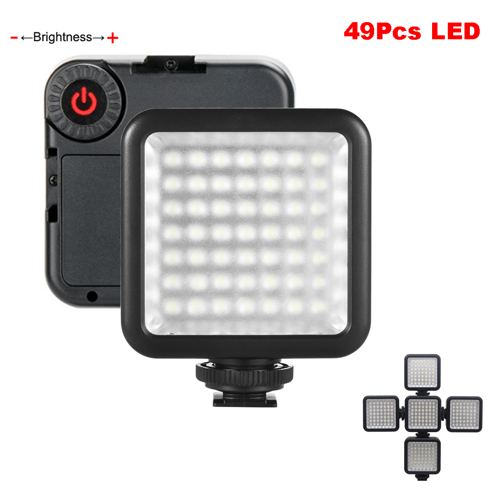 49Pcs LED Phone Video Light Photo Lighting on Camera Hot Shoe LED Lamp for iPhoneX 8 Camcorder Canon / Nikon DSLR Live Stream image