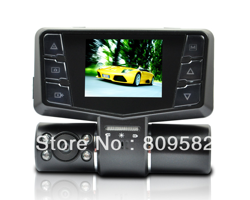 2.0TFT high definition color display screen 720P front and back MOV 90degree steering car dvr camera Kdvr-A900Q