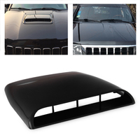 CITALL Black White Grey 1pc Car Universal 4x4 Air Flow Intake Hood Scoop Vent Bonnet Decorative