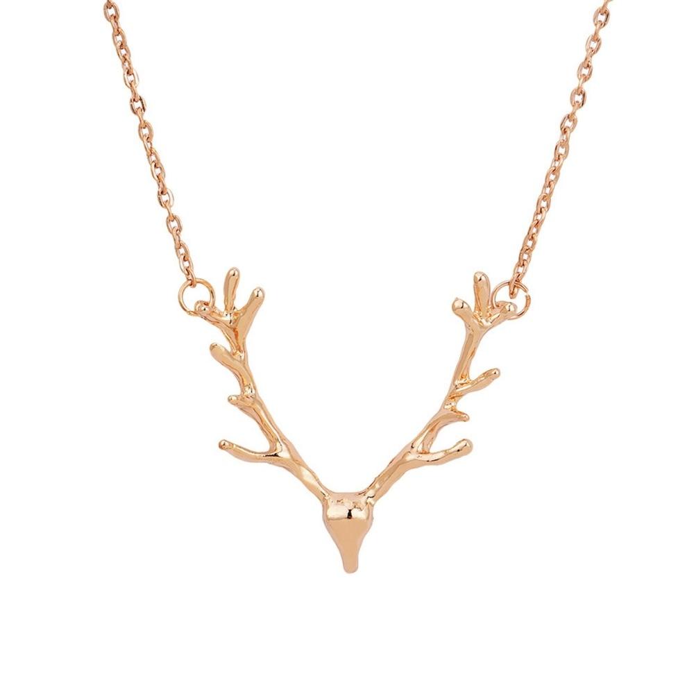 Joyas de moda alces ciervos astas collar colgante de regalo para las - Bisutería - foto 2