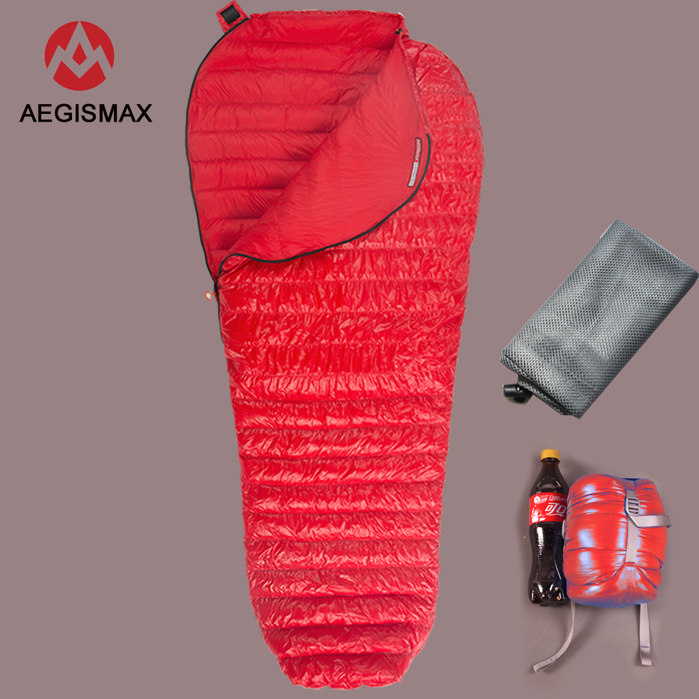 New AEGISMAX MINI upgra Nano Series Outdoor Camping Ultra Light Down Sleeping Bag Mummy Spring Autumn
