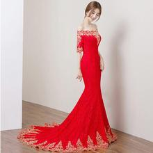 Red Lace Women Wedding Cheongsam Sexy Chinese Dresses Qipao long Slim Chinese Traditional Dress Women Qipao for Wedding Party new red handmade nail bead women lace sexy qipao elegant chinese style wedding dress floral slim ankle length cheongsam