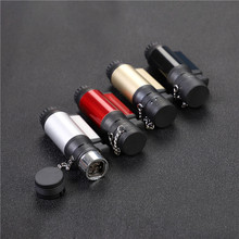 Transparent Visible Gas Electronic Lighter Four Tub Turbo gas 1300C Cigar Cigarette Lighters smoking accessories