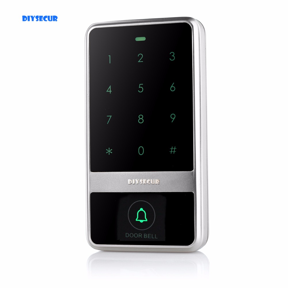 DIYSECUR Waterproof 8000 Users Touch Keypad 125KHz RFID Reader Access Controller For House / Office / Home Improvement diysecur touch keypad 125khz rfid id card reader access controller kit for house office home improvement free shipping