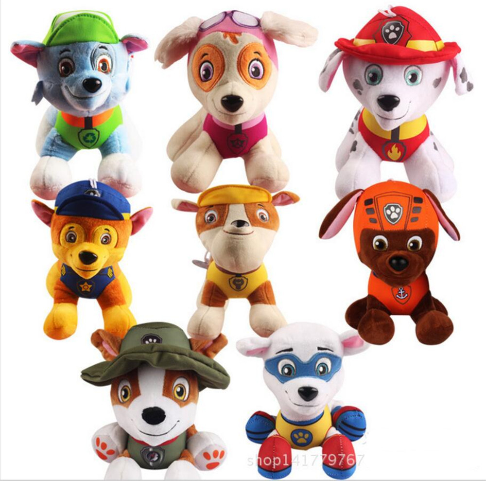 20 30cm Pow patrol dog toys Russian font b Anime b font Doll Action Figures Car