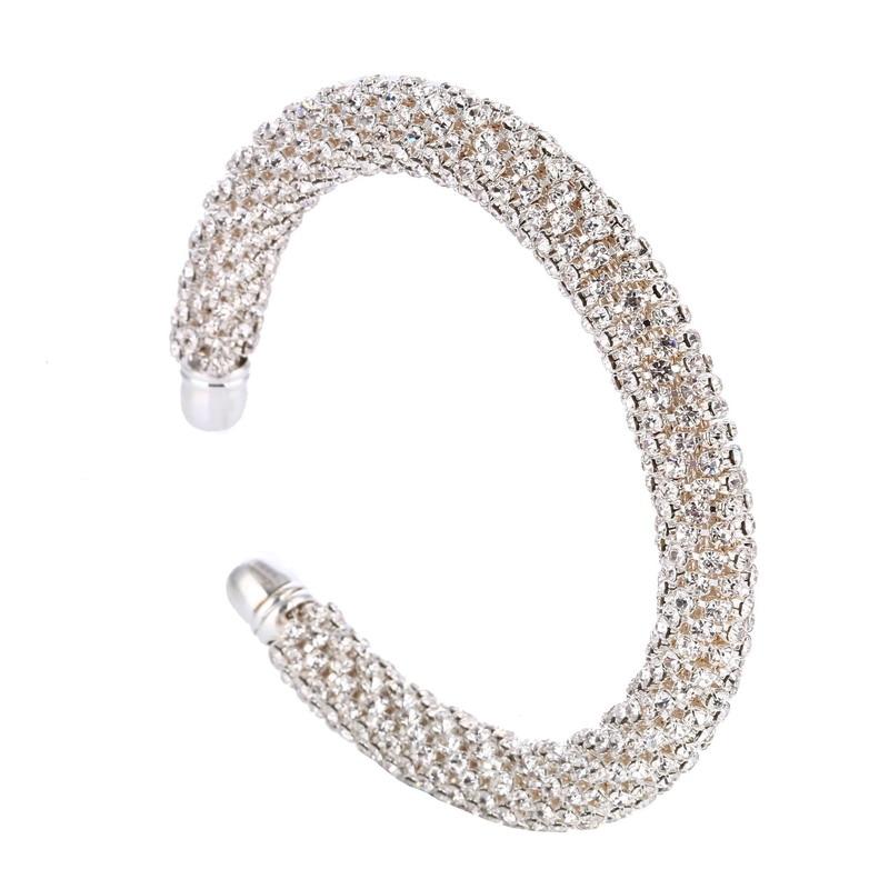 LOVBEAFAS Fashion Luxury Cuff Bracelets & Bangles For Women Crystal Rhinestone Vintage Bracelets Fine Jewelry Accessories 6