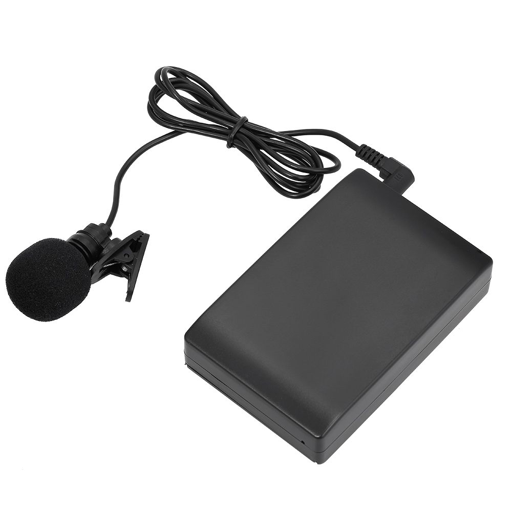 Mini Wireless Clip-on FM Microphone Lavalier Mic System Voice Amplifier Transmitter Receiver 6.5mm Out for Lecture(China)
