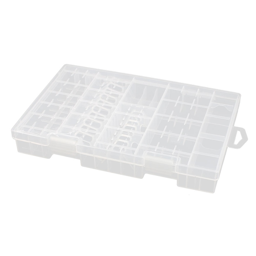 Multiple <font><b>Battery</b></font> Box Hard Plastic Case Holder Storage Box Container for 10-20 AA <font><b>Batteries</b></font>