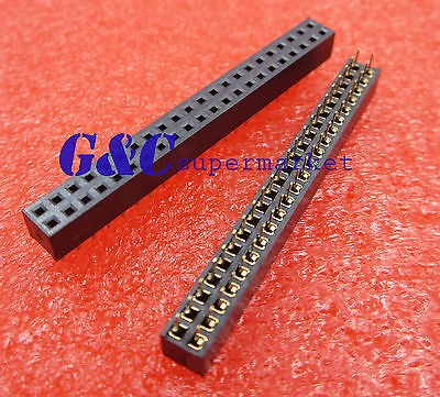 10PCS 2.0mm 2X22 Pin Double Row Female Straight Header Pitch Socket Pin Strip