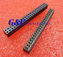 цена на 10PCS 2.54mm 2X22 Pin Double Row Female Straight Header Pitch Socket Pin Strip