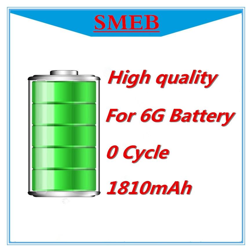 Free Shipping 10PCS SMEB 100% genuine <font><b>0</b></font> Cycle lhigh quality 1810mAh <font><b>Cell</b></font> <font><b>phone</b></font> replacement Li-ion Battery for iPhone 6G battery