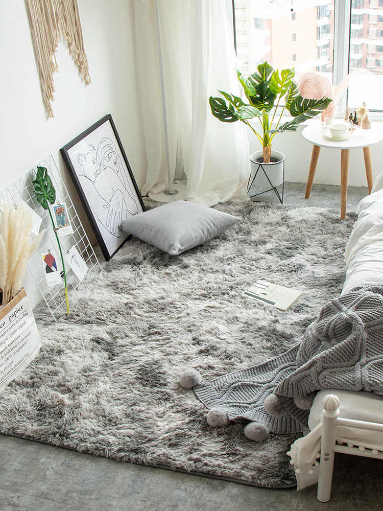 2019 Baby Nursery Rug Children Carpet Bedroom Floor Mat Super Soft Silk Wool Rug Indoor Modern Solid Shag Area Rug Silky Rugs