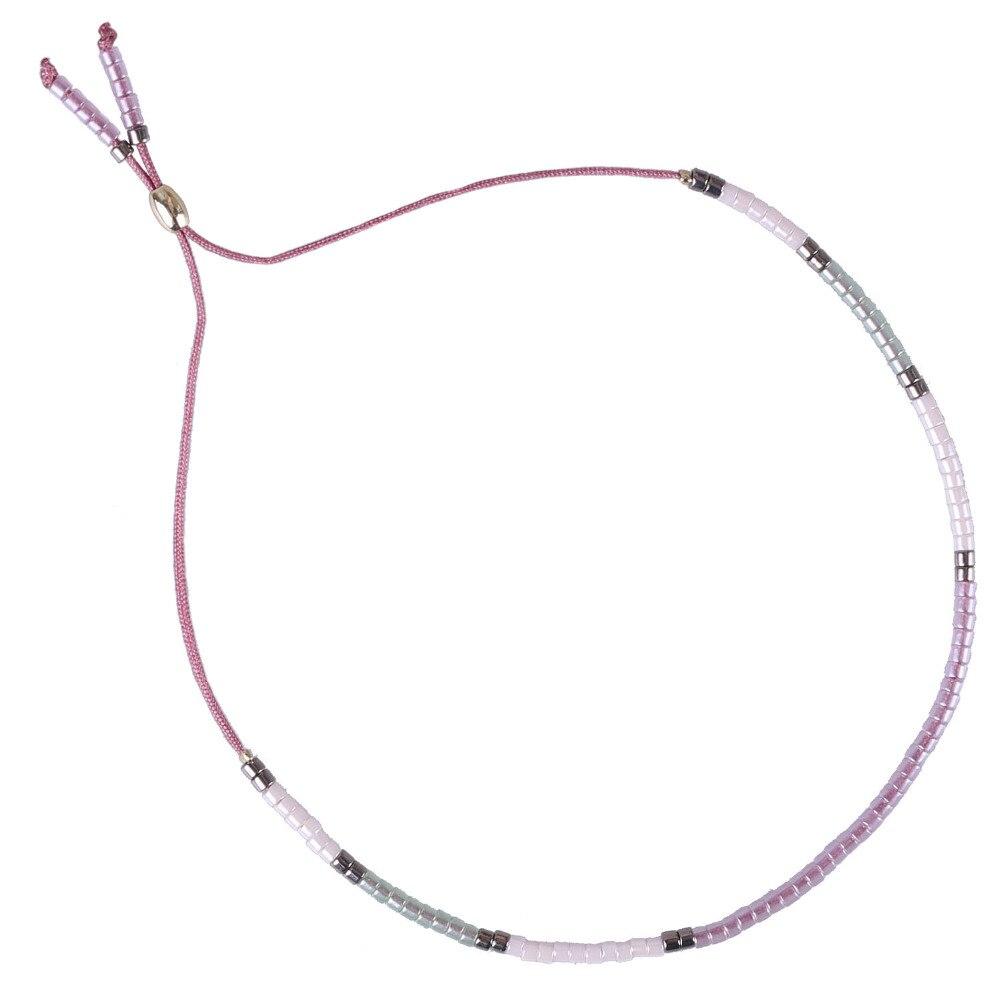 C. QUAN CHI Bijoux En Cristal Coloré Perles de Rocaille Brin Amitié Bracelets & Bangles Réglable Pendentif Breacelet Pour Femmes Cadeau