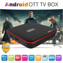 M8S Pro + Smart TV BOX Android 7.1 Wireless Media Player UHD S905 Quad Core 2GB / 16GB 4K HDMI TF RJ45 LAN hot sale new m8s plus m8s android 5 1 tv box amlogic s905 quad core 2 4g