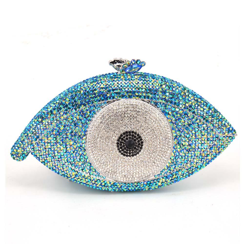 Цвет: blue eye clutch bag