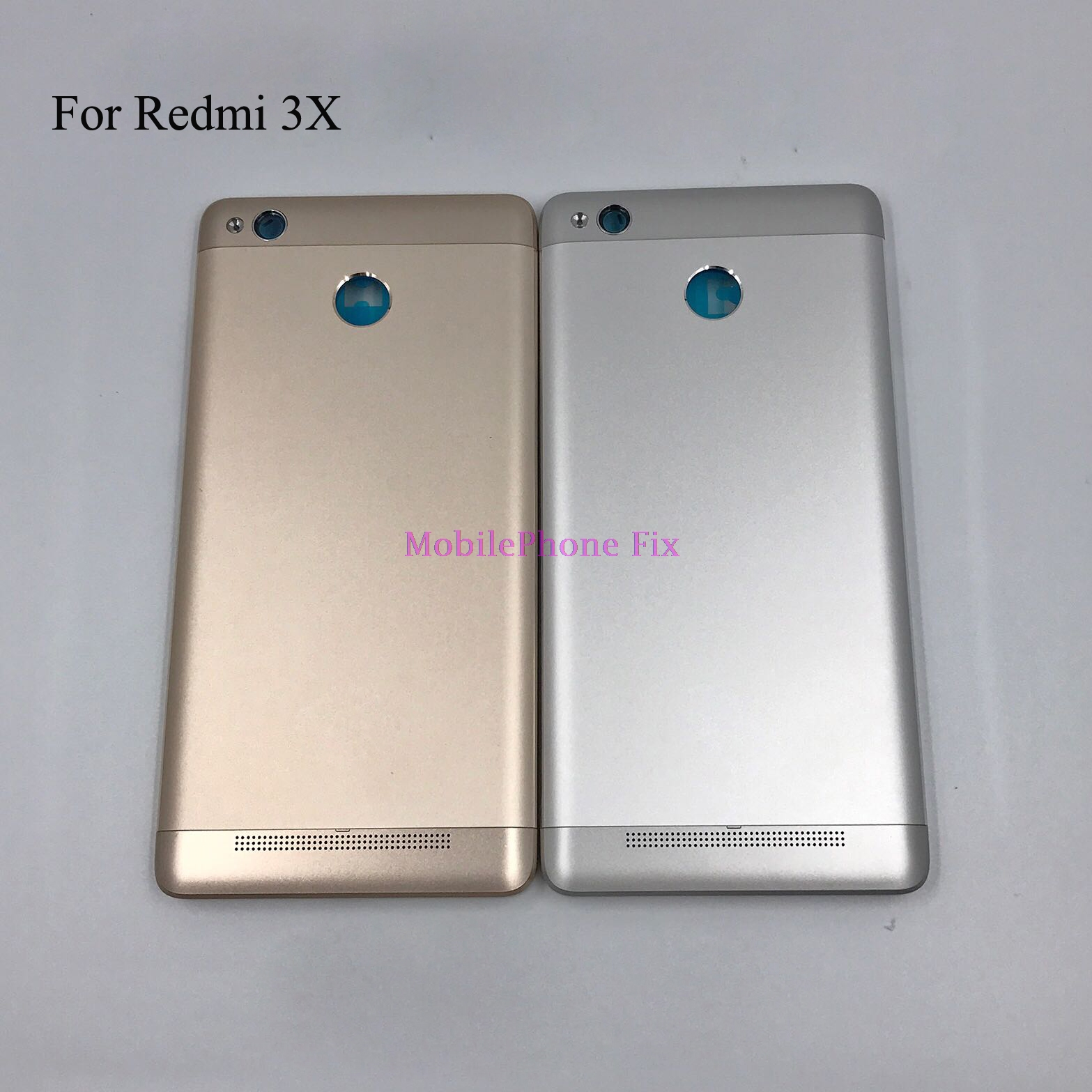 For Xiaomi Redmi 3X Rear Battery Housing Door Cover + Power Volume Side Button Original New Gold Silver Metal Back Cover Case