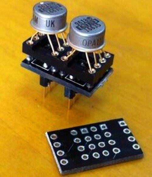 Бесплатная доставка! 2 шт. DIP op amp односторонний Двухсторонний PCB с иглой/без усилителя/электронного элемента