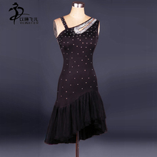 Latin Dance Dress Salsa Tango Cha cha Ballroom Rhinestone Competition Dress