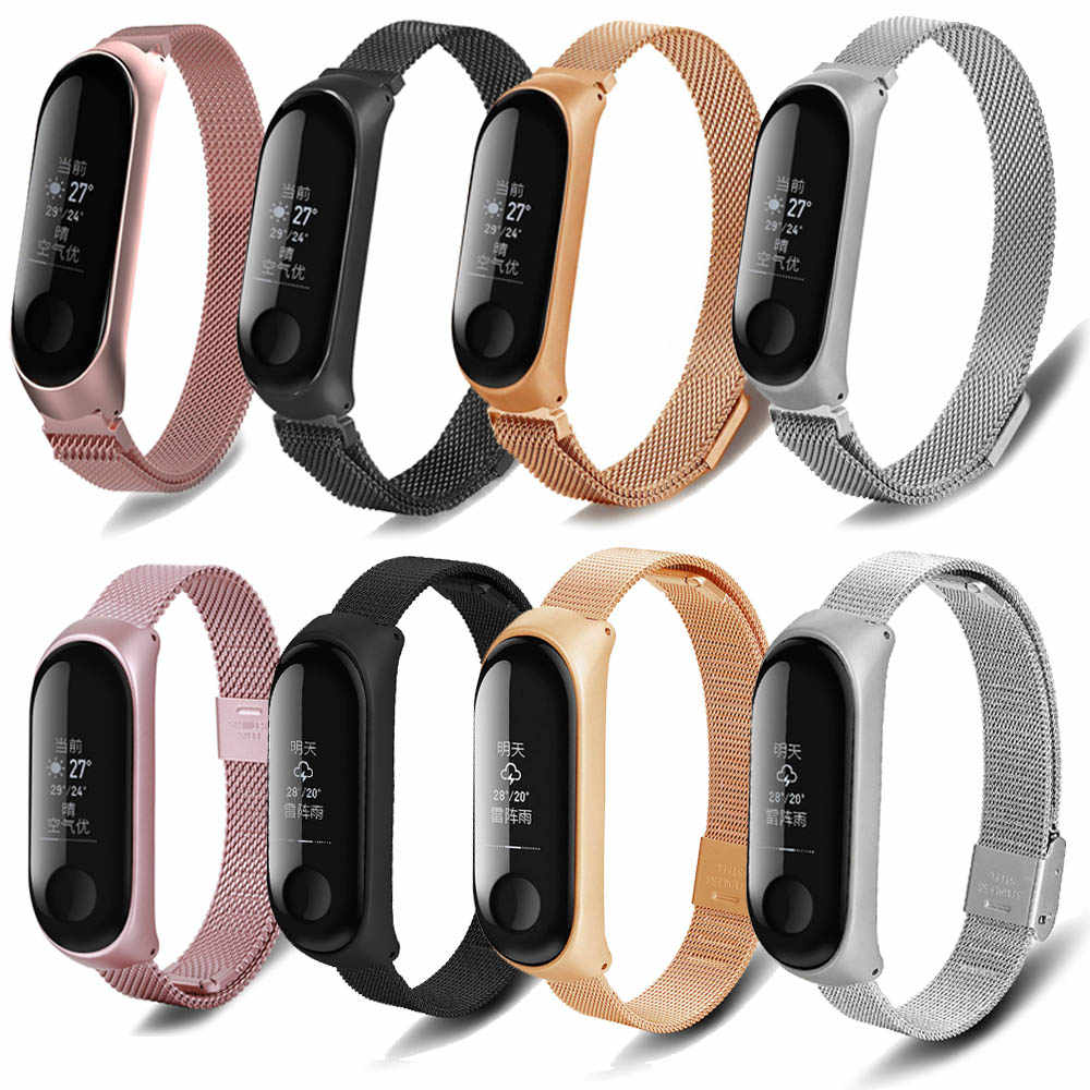 For xiaomi Mi band 3 strap Stainless Steel wristband Milanese Wrist Mi Band 3  Metal Strap WITBON Free shipping