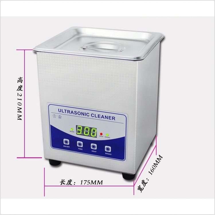 06 JP-010T Stainless Steel Digital Ultrasonic Cleaning Machine Ultrasonic Cleaner 60W 220V for jewelry dental phone PCB cleaning 2l ultrasonic cleaner heater power adjustable for contact lens jewelry rings dental eyeglasses pcb cleaning machine transducer