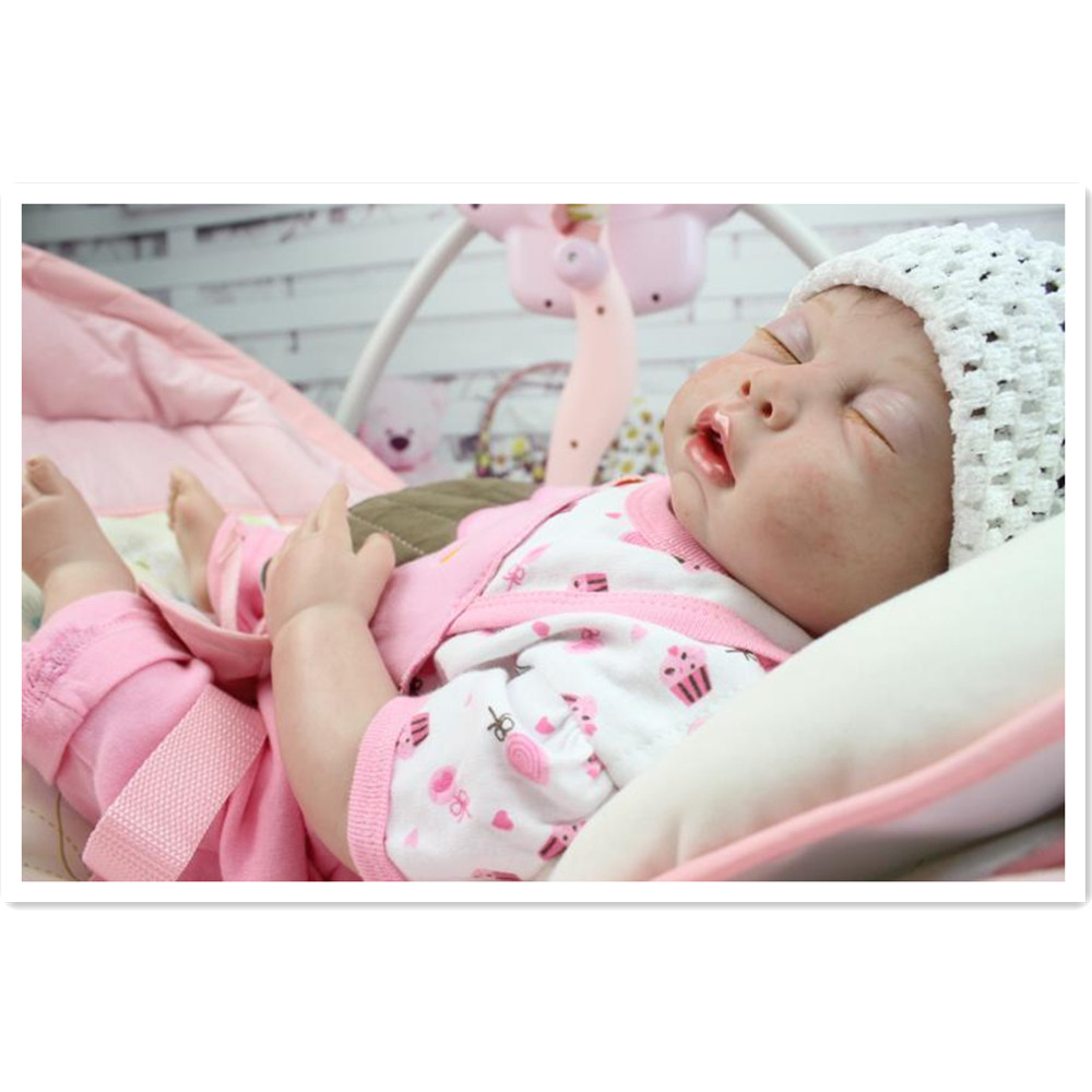 45cm Novelty Simulation Silicone Reborn Dolls Sleeping Baby Dolls with Clothes, 18 Inch Lifelike Baby Reborn Doll 18 inch 45cm lifelike marry wedding bride sd bjd vinyl reborn baby doll toys with dresses kjg89