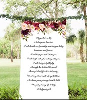 free shipping Personalized wedding reception area decoration party Stage set photo props custom your unique wedding favor cloth