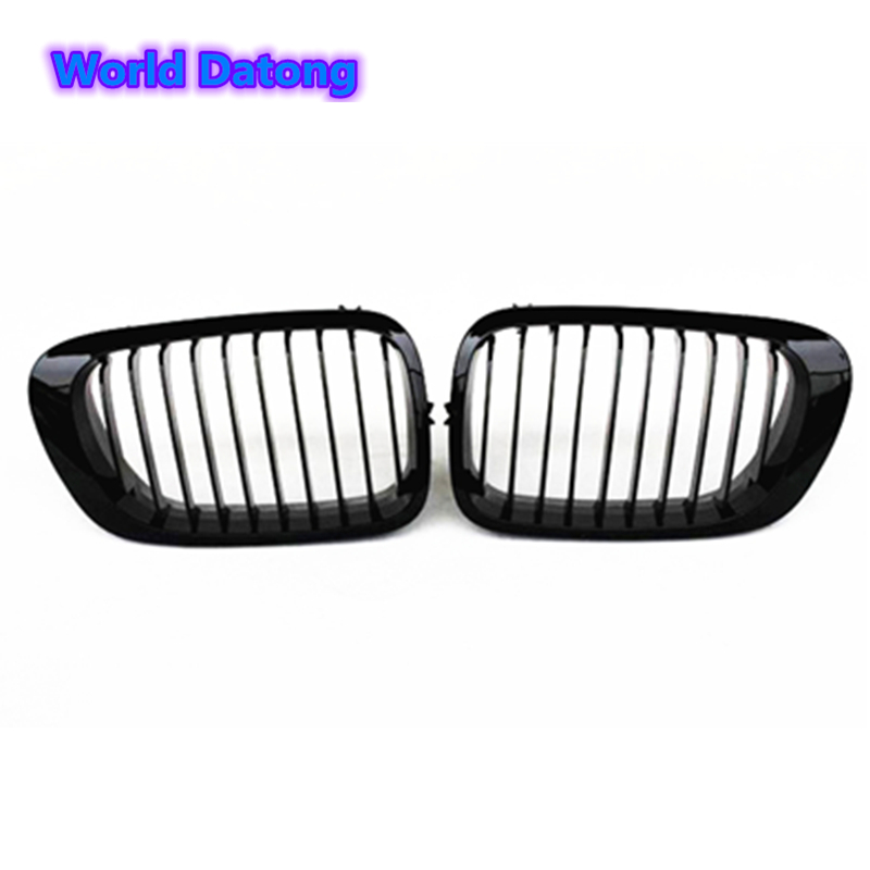 E46 kidney ABS black grill replacement single slat hood grille for BMW 3 Series E46 1998 2001 2 door coupe cabrio