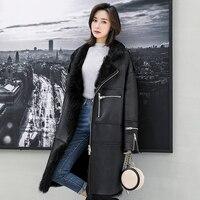 Toscana овчины пальто с длинным рукавом натуральном овечьем Меховая куртка Для женщин супер теплая реального стриженый овечий мех пальто rf0270