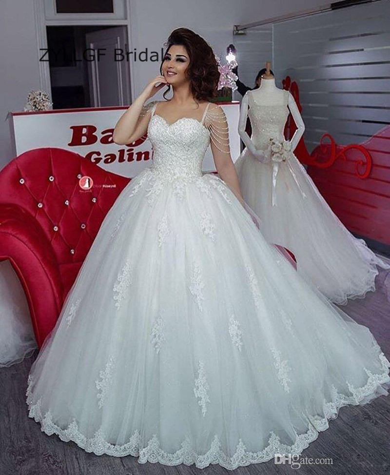 Pictures Of Ball Gown Wedding Dresses: ZYLLGF Bridal Ball Gown Sweetheart Arabian Bride Dress