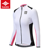 Santic Cycling Jersey Women Long Sleeve Spring Summer Mountain Road Bike Jersey Anti UV Breathable Bicycle Jersey Ropa Ciclismo