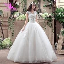 AIJINGYU 2021 아름다운 새로운 뜨거운 판매 싼 볼 가운 레이스 공식적인 신부 드레스 웨딩 드레스 WK316