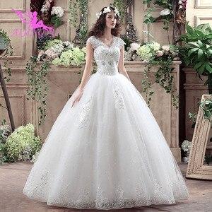 Image 1 - AIJINGYU 2021 아름다운 새로운 뜨거운 판매 싼 볼 가운 레이스 공식적인 신부 드레스 웨딩 드레스 WK316