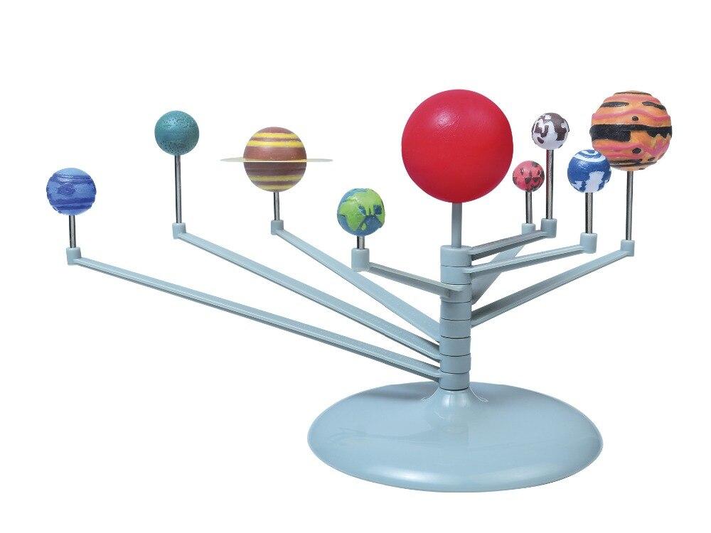 Niños educativos DIY nueve planetas en el sistema Solar planetario pintura ciencia enseñanza modelo