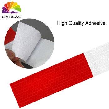 CARLAS carga gratis rojo blanco señales de tráfico temporal cinta reflectante impresa personalizada para la seguridad del coche