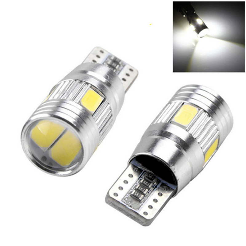 2x T10 194 501 W5W LED CREES SIDELIGHTS WHITE FREE ERROR For BMW Benz AUDI VW GOLF 4 & 5 & 6 PASSAT 3C B6 CC 3B DC12V 6000K